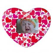 Magnet inimă inserție foto - model Love (set 10 buc)