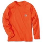 Carhartt Force Cotton Camisa de manga larga Naranja XL