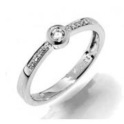 GEMS elegantní zásnubní prsten s diamanty Ida, bílé zlato 386-1257