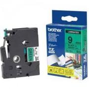 Лента Brother TZ-721 Tape Black on Green, Laminated, 9mm, 8m - Eco - TZE721