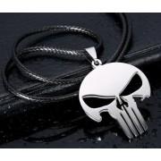 Punisher (Megtorló) acél nyaklánc