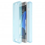 Husa Full TPU 360 (fata spate) pentru Samsung Galaxy S7 Edge Albastru transparent