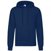 Fruit of the Loom hooded sweater donkerblauw voor volwassenen