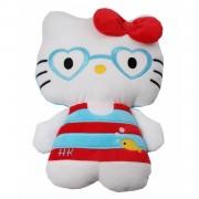Jemini hello kitty knuffel doll pluche rood/blauw 14 cm