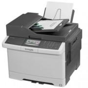 Мултифункционално лазерно устройство Lexmark CX417de, цветен, принтер/копир/скенер/факс, 2400 x 600 dpi, 30 стр/мин, LAN1000, USB 2.0, А4