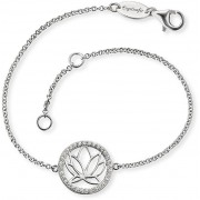 Engelsrufer Bratara din argint cu floare de lotus ERB-LOTUS-ZI