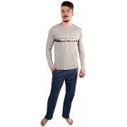 Tommy Hilfiger Masculin pijamale Cotton Icon Set Ls Logo UM0UM00469-097 Grey Heather/Vintage Indigo S