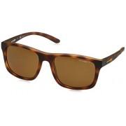 Arnette anteojos de sol cuadradas polarizadas para hombre (57 mm), color café mate