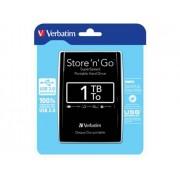 Verbatim Disco Externo HDD Store 'n' Go (2.5'' - 1TB - Preto)