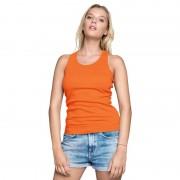 Gildan Oranje dames tanktop/singlet basic racerback hemdjes