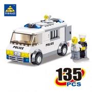 Generic Kazi 6730 Police Series Blocks Police Custody Van 135pcs Enlighten Building Blocks Playmobil Model Bricks Toys for Children
