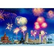 Puzzle Grafika - New Year's Eve around the World, 1.500 piese (63491)