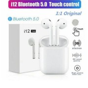 Casti Bluetooth, Wireless i12, Functie SIRI, Compatibile Android si iOS