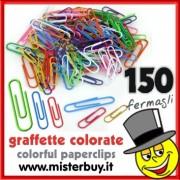 GRAFFETTE COLORATE confezione 150 pezzi misure assortite