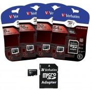 Verbatim 16 GB microSDHC Speicherkarte mit SD Karten-Adapter, Class10