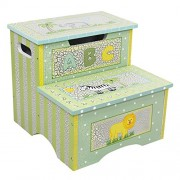 Teamson Kids Crackle Step Stool with Storage - Safari Collection