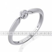 Zásnubní prsten s diamantem, bílé zlato brilianty vel. 53 585/1,27gr 3861817