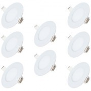 Bene LED 3w Round Panel Ceiling Light Color of LED Warm White (Yellow) (Pack of 8 Pcs)