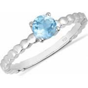 Inel argint Rosalind 925 cu topaz albastru elvetian - IVA0062