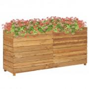 vidaXL Jardinieră, 150 x 40 x 72 cm, lemn de tec reciclat și oțel