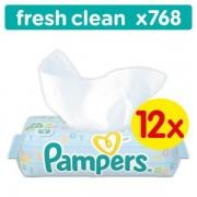 Pampers vlažne maramice Baby Fresh Clean, 12 x 64 komada