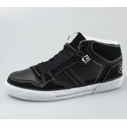 magasszárú cipő férfi - Superfly-Vulcan Mid - GLOBE - BLACK-WHITE