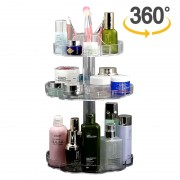 Suport Organizator Rotativ pentru Cosmetice cu 3 Rafturi