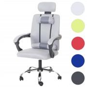 Jugend-Bürostuhl HWC-A13, Schreibtischstuhl Drehstuhl, Kopfstütze Armlehnen Stoff/Textil ~ Variantenangebot
