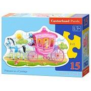 "Castorland ""Princess In A Carriage"" Puzzle (15 Piece)"
