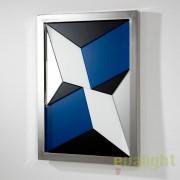 Oglinda decorativa multicolora design modern, rama argintie Coral 36566/00 TN