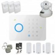 Kit alarme sans fil Gsm T4 + Caméra IP