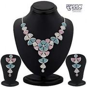 Sukkhi Color Stone Necklace Set - Option 3