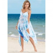 Braided TIE Strap Dress Cover-ups - Blue/multi/white