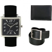 Crude Smart Combo Analog Watch-rg206 With Leather Belt Wallet