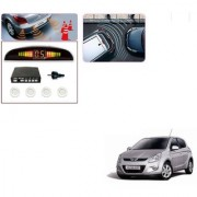 Auto Addict Car White Reverse Parking Sensor With LED Display For Hyundai i20