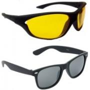 Hrinkar Sports Sunglasses(Yellow, Grey)