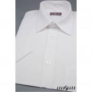Pánská košile KLASIK s krátkým rukávem bílá 656-1-39/182