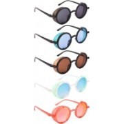 NuVew Round, Shield Sunglasses(Black, Blue, Brown, Green, Red)