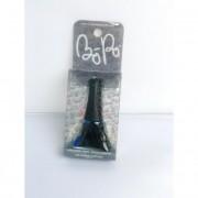 Tini körömlakk - fekete - kék glitteres Bo-Po