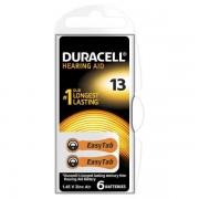 DURACELL EASY TAB13 ARANCIO - BLISTER 6 BATTERIE DA13-MELDU80