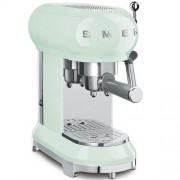 GARANTIE 2 ANI Expresor de cafea SMEG RETRO `50, sistem incalzire thermoblock, 15 bari, sistem antipicurare, panou control facil, rezervor apa 1 litru, putere 1350W, VERDE, ECF01PGEU