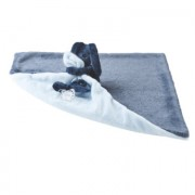 Nattou Lapidou - Knuffeldoek Deken Marineblauw-lichtblauw - Blauw