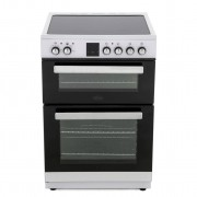 Belling FSE608DPC Ceramic Electric Cooker with Double Oven - White