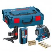 BOSCH GLL 2-80 P vonallézer + BM 1 falitartó + LR 2 vevő L-Boxx-ban