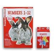 Pre-K Numbers Discovery Workbook with Reward Stickers and Flash Card Bundle