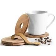 Sagaform Design Oak muggunderlägg 4-pack 1 set