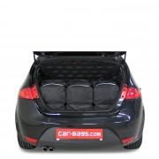 Car-Bags Seat Leon (2005-2012) 6-Delige Reistassenset zwart