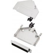 Set conector tata D-SUB cu carcasa, 37 pini, 180°, Encitech DTZK37-DBP-K