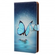 Nokia 8 Fashionable Series Wallet Case - Blue Butterfly