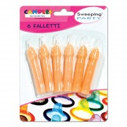 Sweeping party candeline falletti 10 cm 6 pz